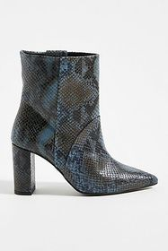 Anthropologie Chio Snake-Printed Ankle Boots