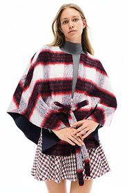 Anthropologie Johanna Plaid Capelet