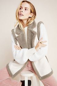 Anthropologie Phoebe Sueded Sherpa Vest