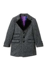 Isaac Mizrahi Tweed Trim Herringbone Coat (Toddler