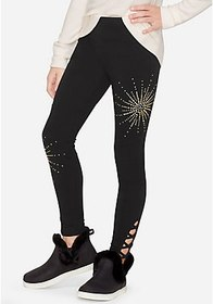 Justice Lace Up Rhinestone Leggings