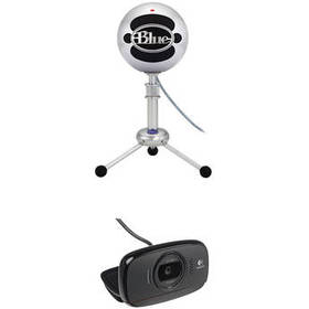 Blue Snowball USB Microphone Kit with HD Webcam