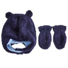 Baby Boys Faux Fur Trapper Hat with Mittens