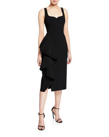Jason Wu Collection Ruffled Compact Crepe Dress