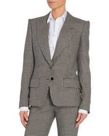 TOM FORD Houndstooth Two-Button Jacket