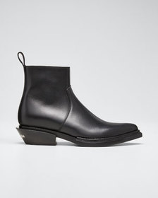 Balenciaga Santiag Leather 40mm Booties