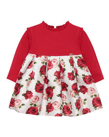 Mayoral Girl's Ruffle Trim Long-Sleeve Floral Dres