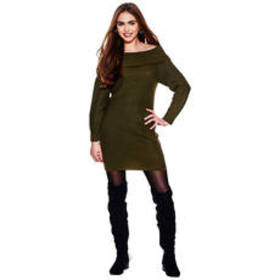 Juniors No Comment Marilyn Neck Sweater Dress