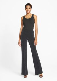 Tall Lurex Knit Pintuck Pant