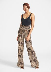 Tall Pebble Crepe Flowy Pants
