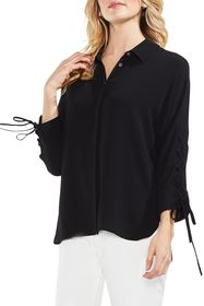 Vince Camuto Lace-Up Sleeve Blouse (Regular & Peti