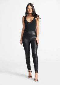 Tall High Waist Coated Leggings