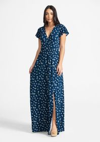 Tall Faux Wrap Maxi Dress