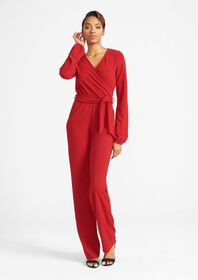 Tall V-Neck Long Sleeve Jumpsuit