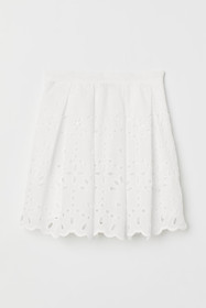 Skirt with Eyelet Embroidery