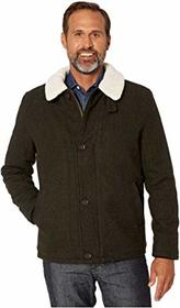 Cole Haan Tumbled Wool Button Front Jacket w/ Faux
