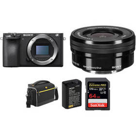 Sony Alpha a6500 Mirrorless Digital Camera with 16
