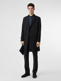 Burberry Cotton Gabardine Lab Coat in Black