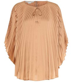 Stella McCartney Moama pleated satin top