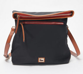 """As Is"" Dooney & Bourke Wayfare Nylon Flapover Cro"
