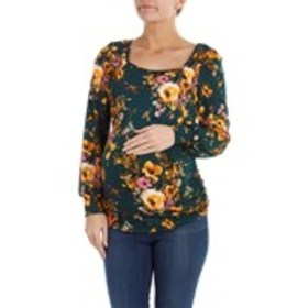 TOP FASHION Floral Crepe Maternity Top