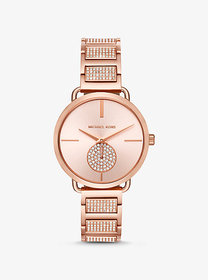 Michael Kors Portia Pave Rose Gold-Tone Watch
