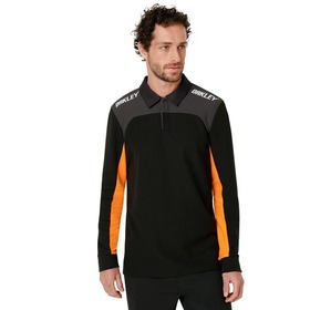 Oakley Oakley Racing Team Long Sleeve Polo - Black