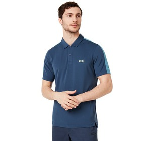 Oakley Perforates Solid Polo - Foggy Blue