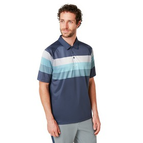 Oakley Color Block Graphic Polo - Foggy Blue