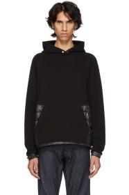 Moncler Black Maglia Down-Filled Hoodie