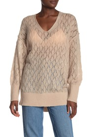 Free People Say Hello Oversized Tunic Sweater
