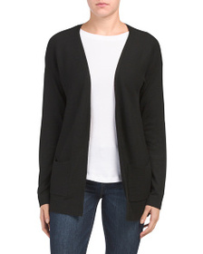 EXPRESS Solid Ribbed Trim Cardigan Sweater