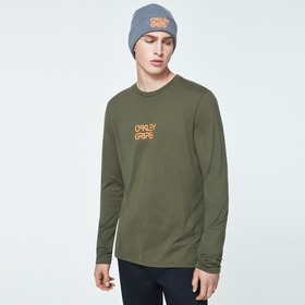 Oakley Bold O-Grip Long Sleeve Tee - Blackout