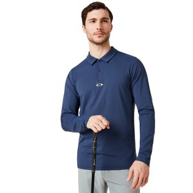 Oakley Engineered Insert Long Sleeve Polo - Foggy