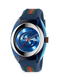Gucci Sync Stainless Steel Rubber-Strap Watch NO C
