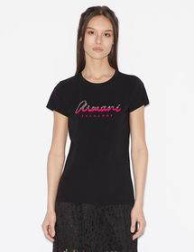 Armani T-SHIRT WITH CONTRAST LETTERING