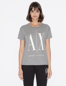 Armani BOYFRIEND-FIT ICON LOGO TEE