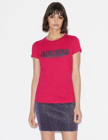 Armani SLIM-FIT TEE WITH CONTRAST PRINT