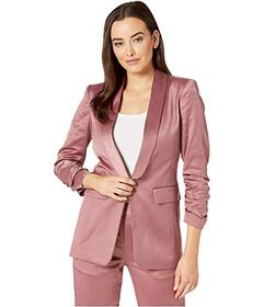Tahari by ASL Roll Collar Scrunched Sleeve Jacket