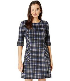Tahari by ASL Dress with Pleated Skirt and Elbow S