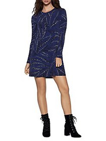 BCBGeneration A-Line Long Sleeve Dress TWILIGHT BL