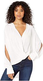 7 For All Mankind Cross Front Drape Top