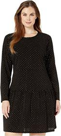 MICHAEL Michael Kors Plus Size Foil Long Sleeve Sh