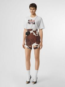 Burberry Montage Print Cotton Oversized T-shirt in