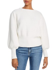 FRENCH CONNECTION - Mozart Popcorn-Knit Cotton Swe