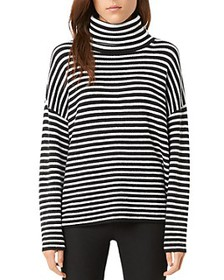 FRENCH CONNECTION - Micro Stripe Turtleneck Sweate