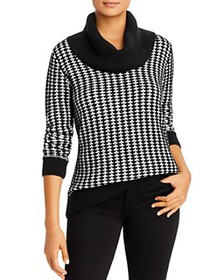Calvin Klein - Patterned Cowl-Neck Sweater