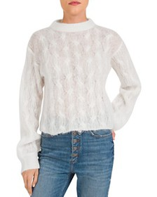 The Kooples - Openwork Cable-Knit Sweater