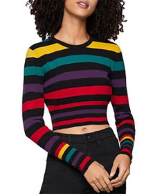 BCBGENERATION - Rainbow-Stripe Cropped Sweater