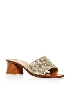 Bottega Veneta - Women's Woven Block-Heel Slide Sa